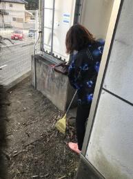 ビル清掃の様子